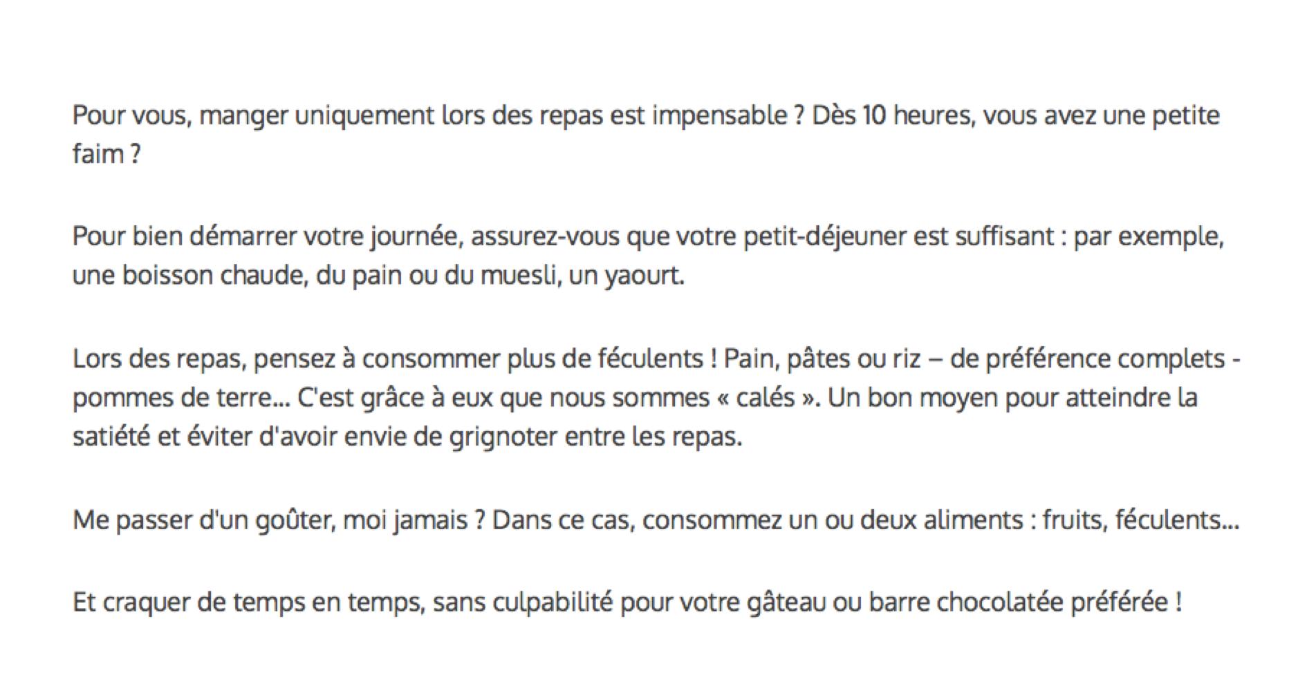 Comment arrêter de grignoter? Source : manger-bouger.fr