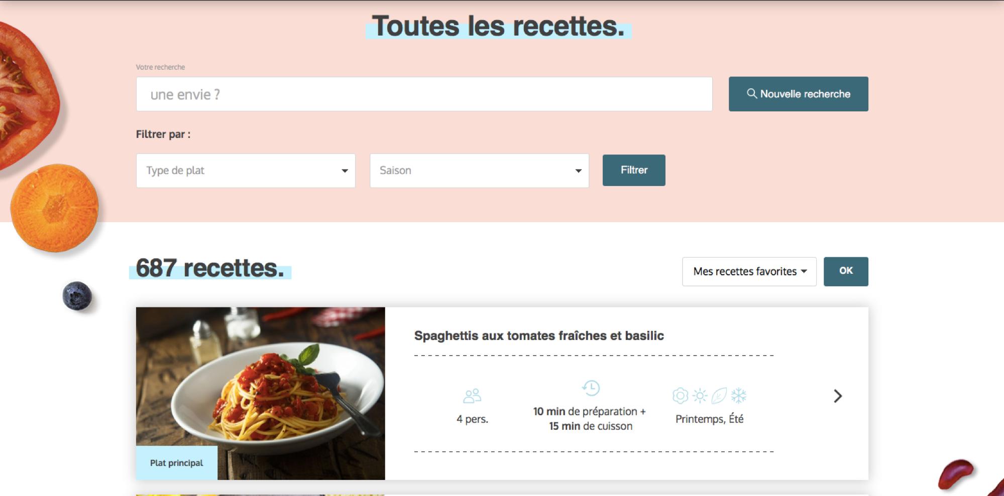 Les recettes manger-bouger.fr
